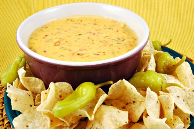 queso with jalapenos and chips
