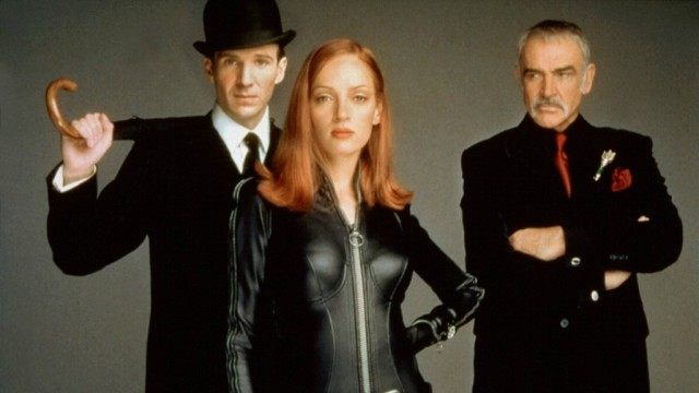 Ralph Fiennes, Uma Thurman and Sean Connery in 'The Avengers'
