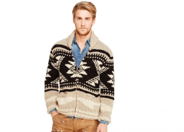 Ralph Lauren hand-knit sweater