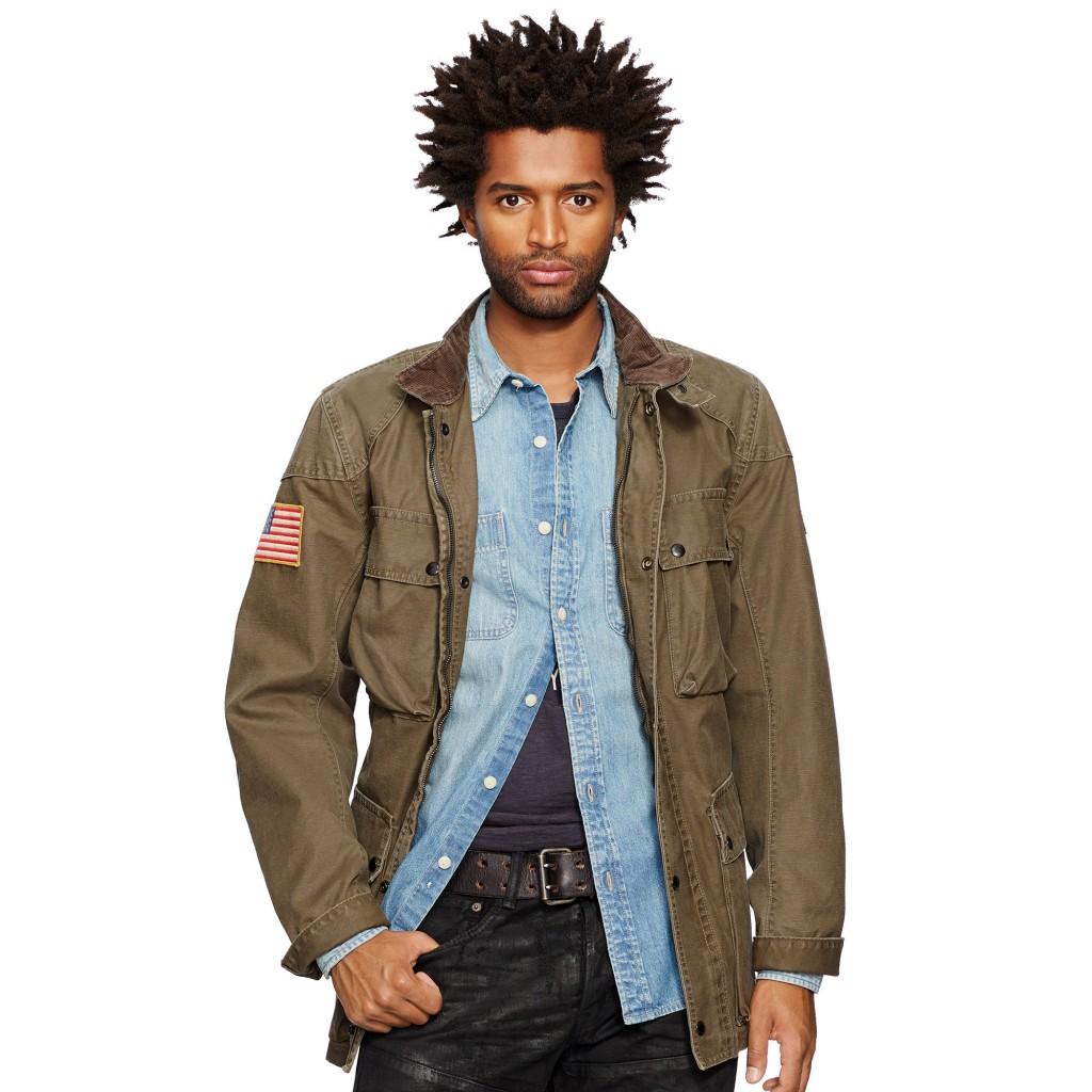 Ralph Lauren waxed cotton moto jacket