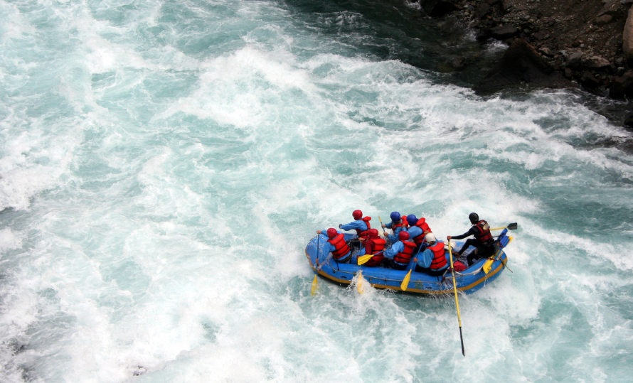 whitewater, rafting, river
