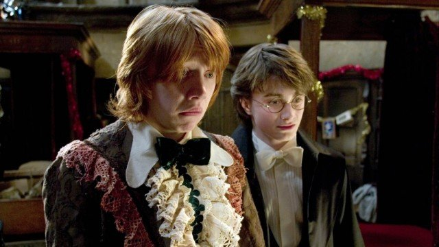Rupert Grint and Daniel Radcliffe in 'Harry Potter and the Goblet of Fire'