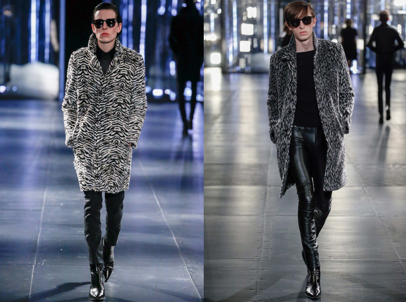 Saint Laurent Fall 2015 Runway style animal print