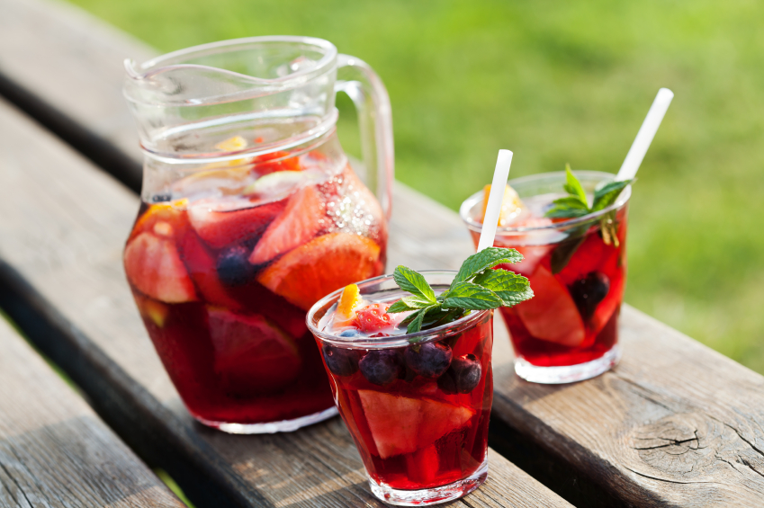 sangria, cocktail, punch, drink