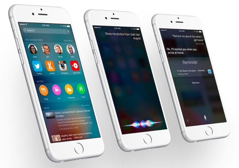 Siri in iOS 9 on iPhone 6s