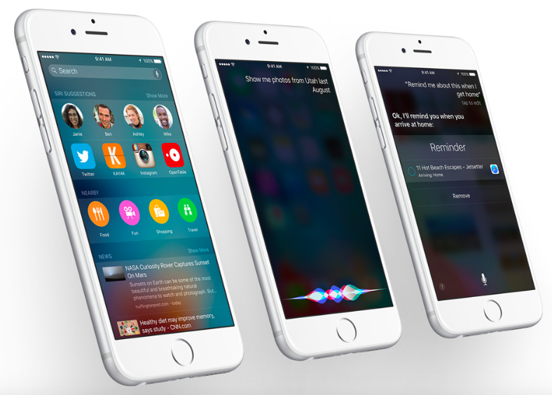 Siri in iOS 9 on iPhone