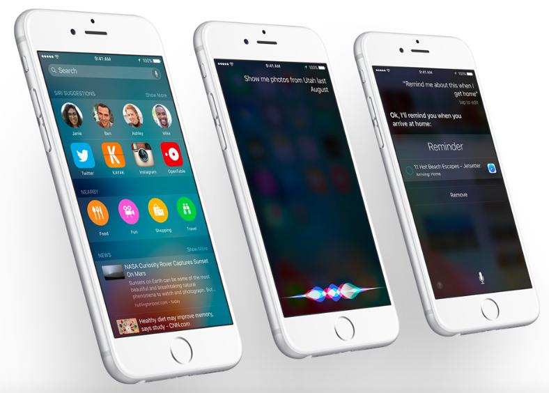 Siri in iOS 9 on iPhone