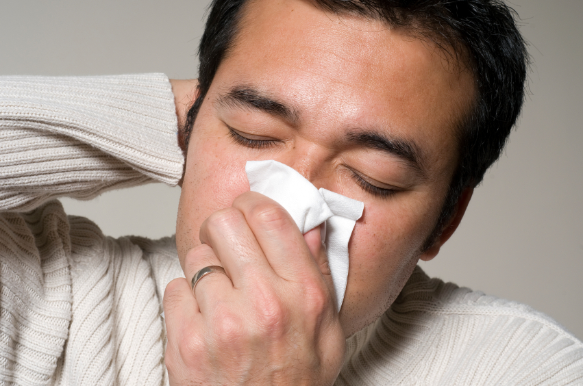 blowing your nose