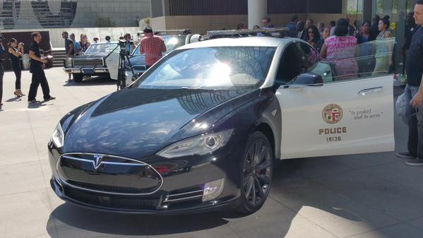 Tesla LAPD Twitter