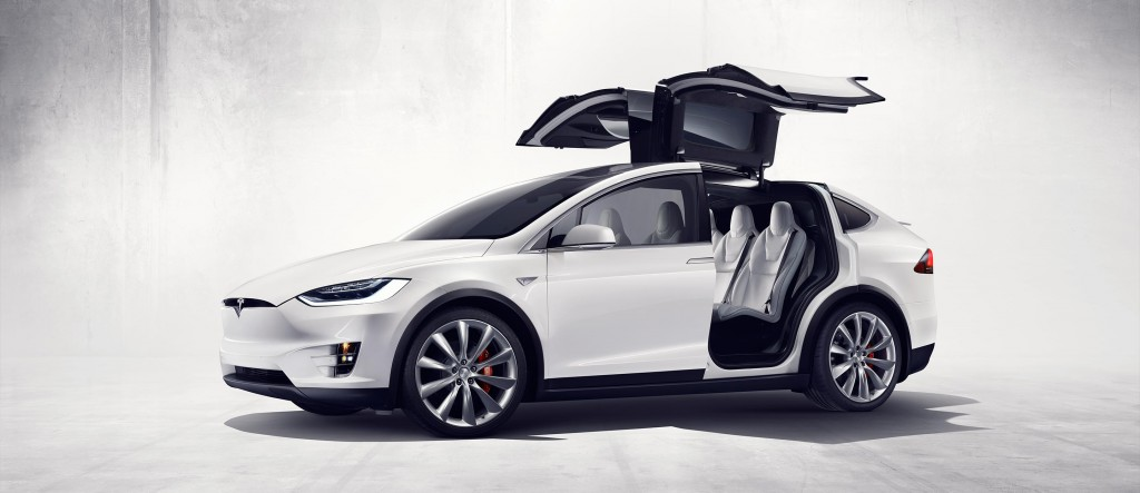 Tesla Model X falcon wing doors