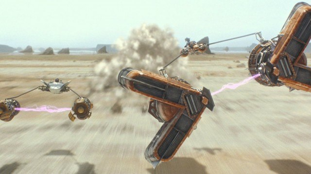 The pod race sequence in 'The Phantom Menace'