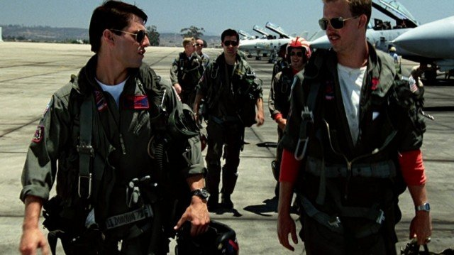 Tom Cruise and Anthony Edwards in Top Gun