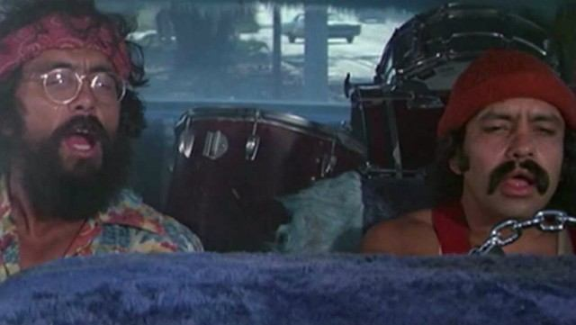 Tommy Chong and Cheech Marin in 'Cheech and Chong's Up in Smoke'