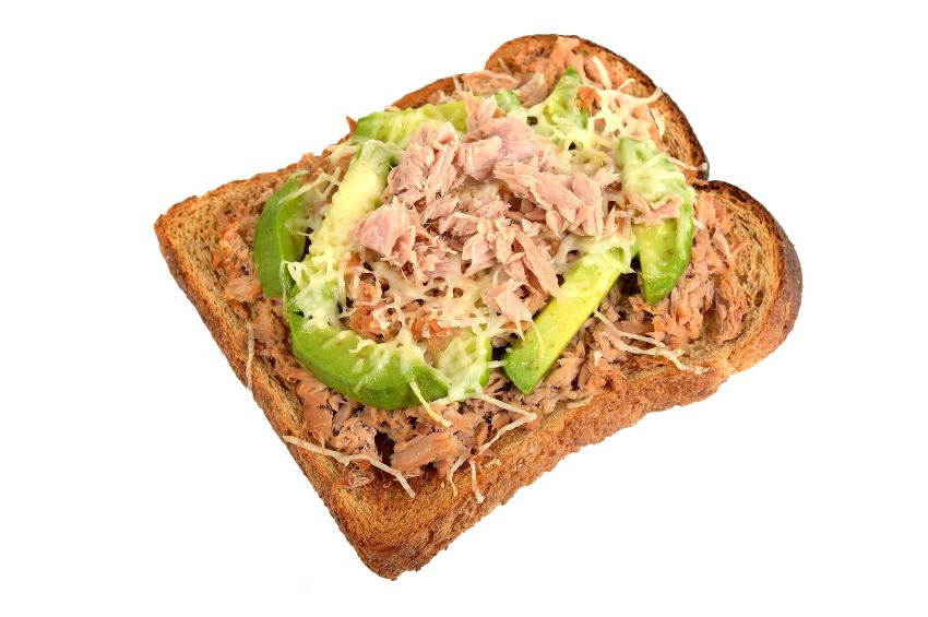 tuna melt with avocado