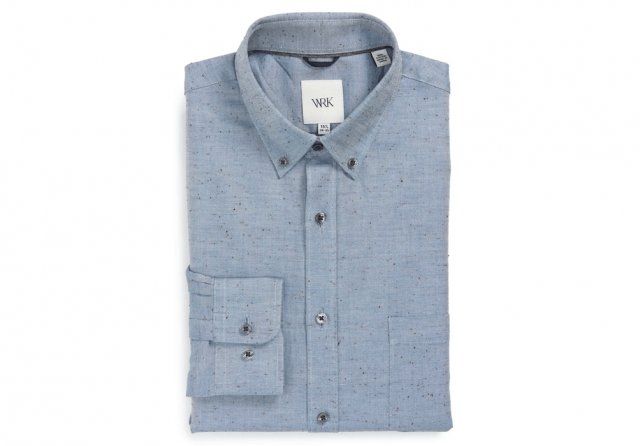 W.R.K. nepped oxford shirt