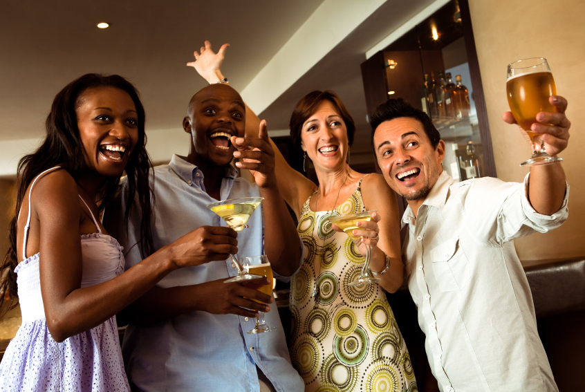 cocktails, party, friends