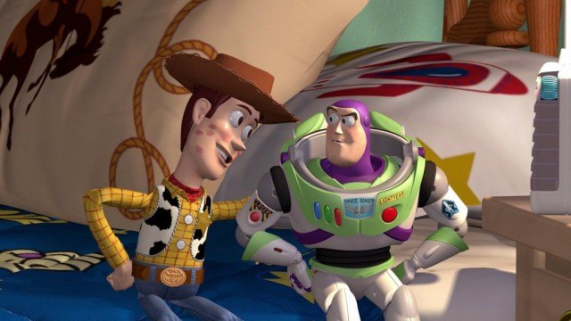 Woody and Buzz Lightyear in 'Toy Story'