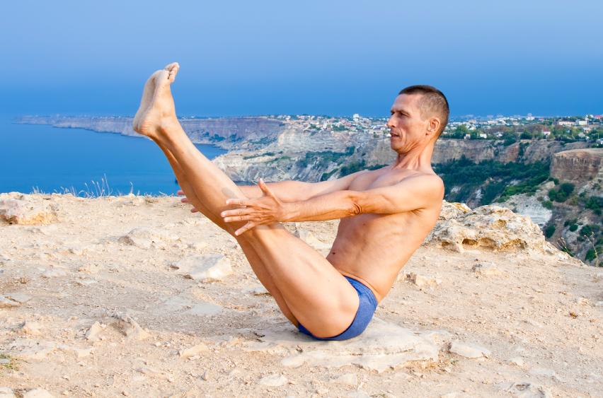 yoga, boat pose