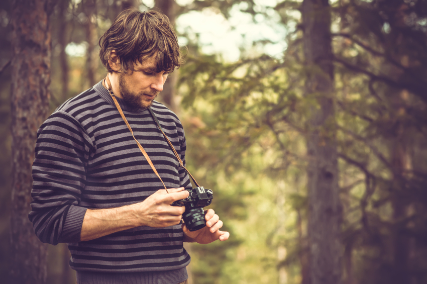 nature, photography, trees, sweater, man