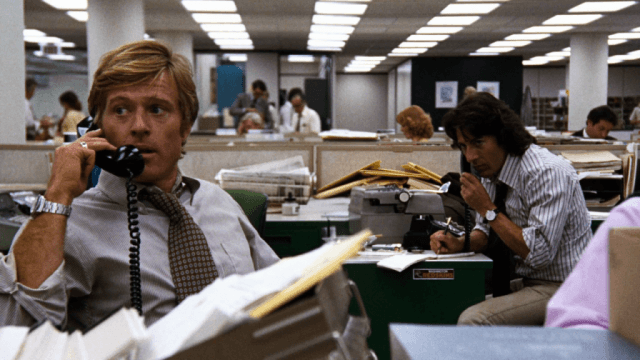 Robert Redford and Dustin Hoffman in 'All the President's Men'