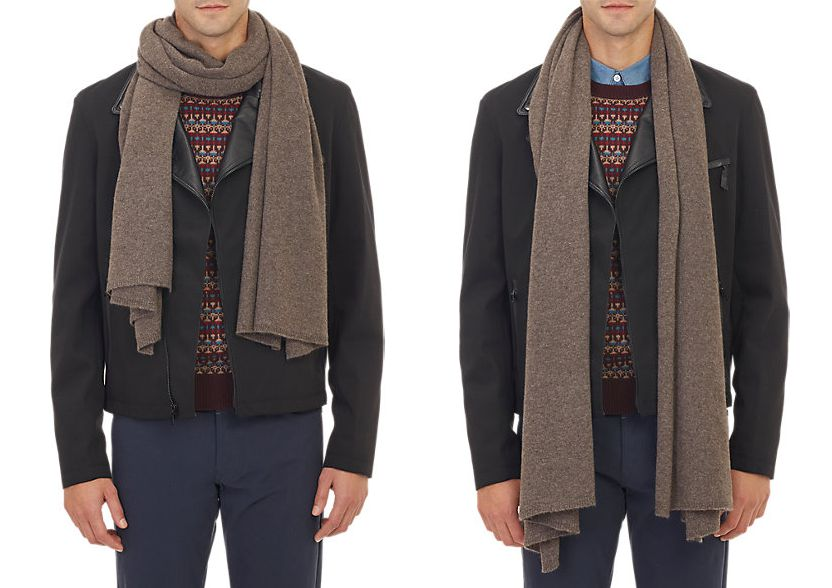 how to wear a light scarf