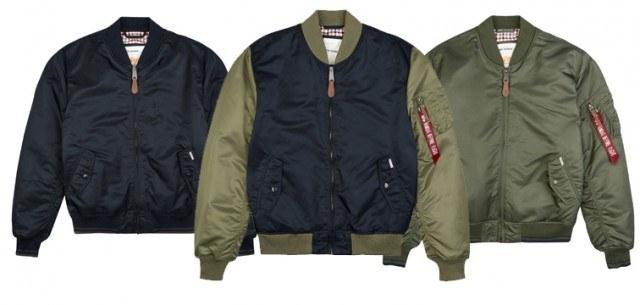 Ben sherman x alpha industries bomber jacket