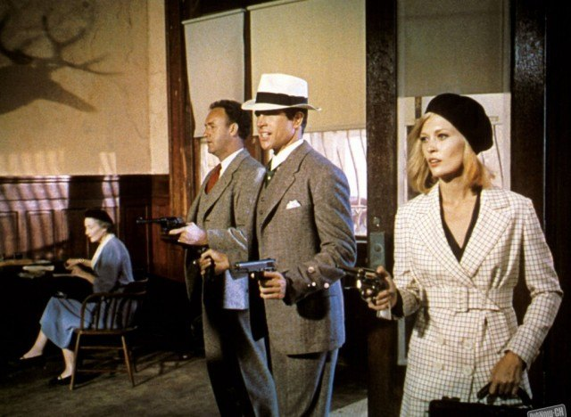 Warren Beatty and Faye Dunaway in 'Bonnie and Clyde'