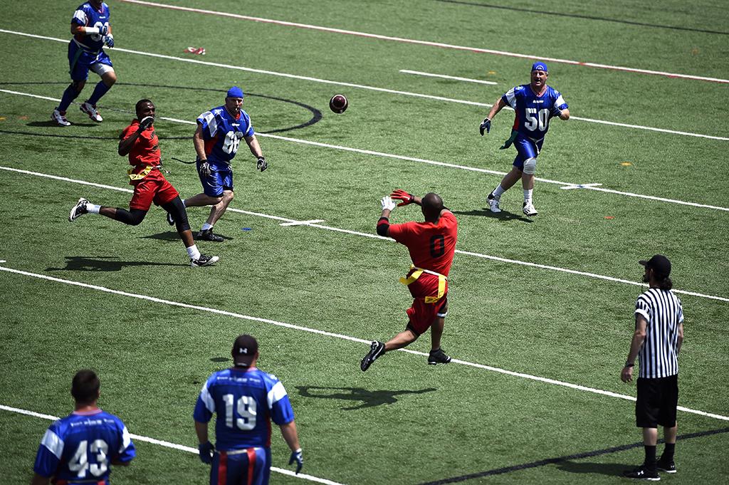 Flag football players