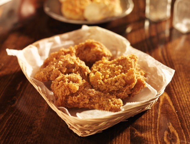 Fried chicken in food basket