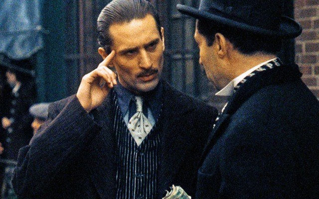 did robert de niro play in the godfather