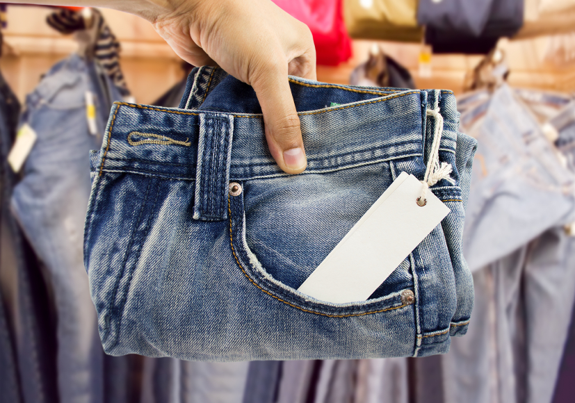 jeans, store, shopping