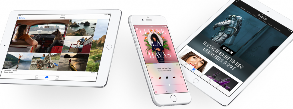 iOS 9 apps on iPads and iPhone