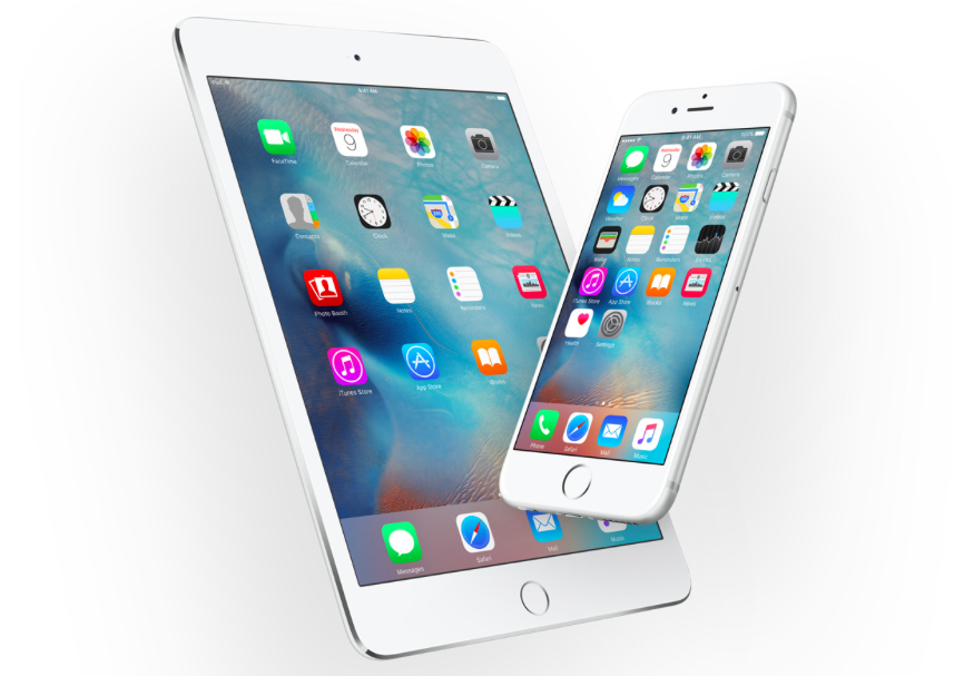iOS 9 on iPad and iPhone