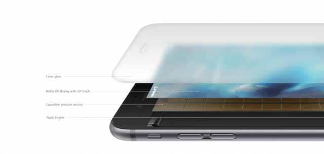 iPhone 6s display with 3D Touch
