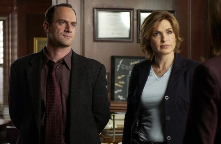 Christopher Meloni and Mariska Hargitay in Law & Order: SVU