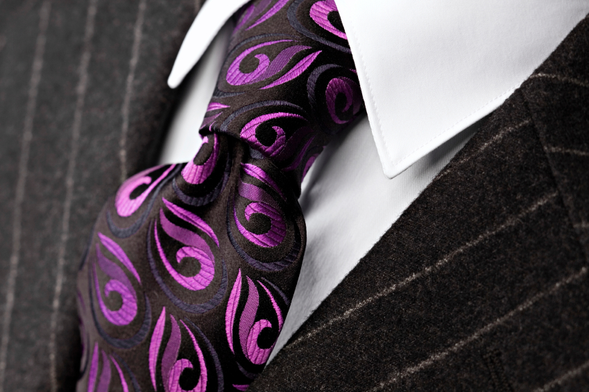 a bold patterned tie