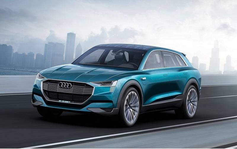 The Audi e-tron quattro electric crossover