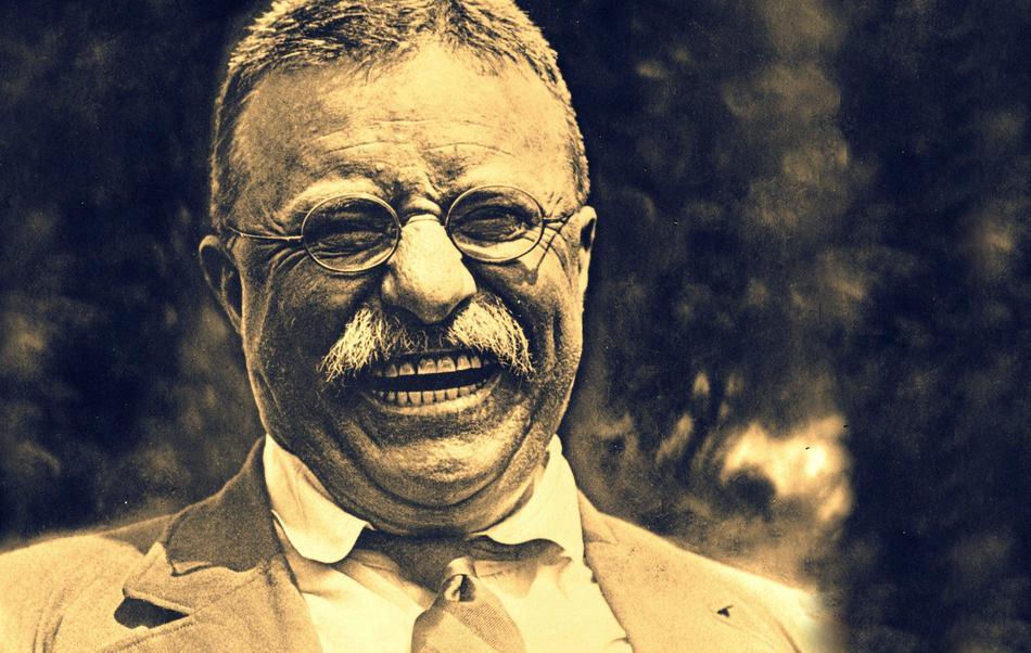 Theodore Roosevelt smiling