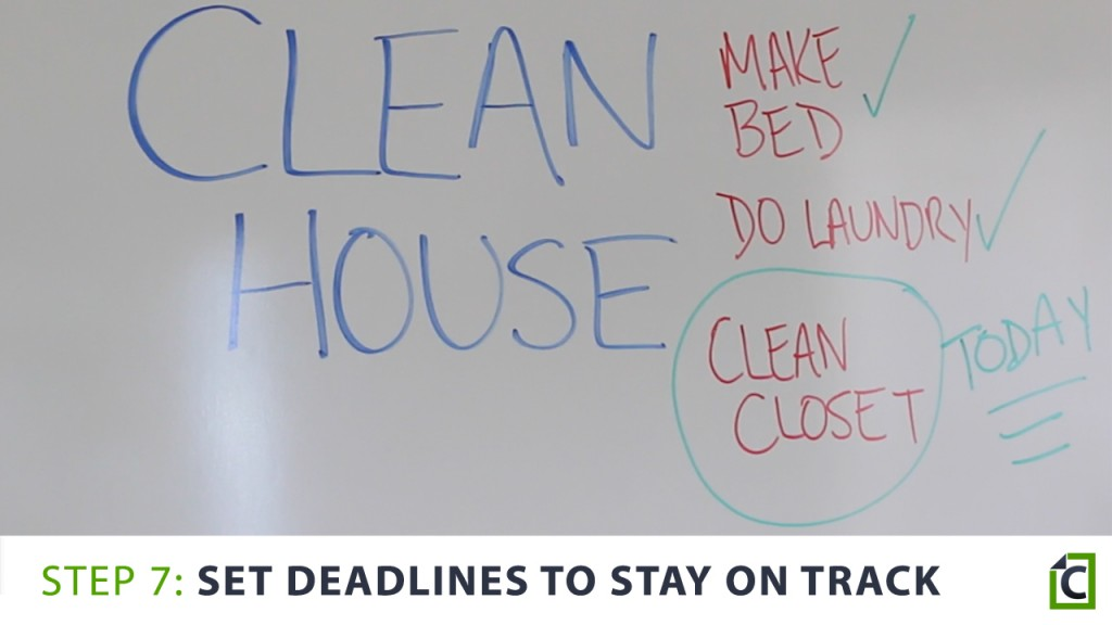 set deadlines