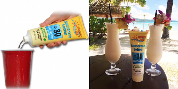 GoPong Hidden Sunscreen Alcohol Flask
