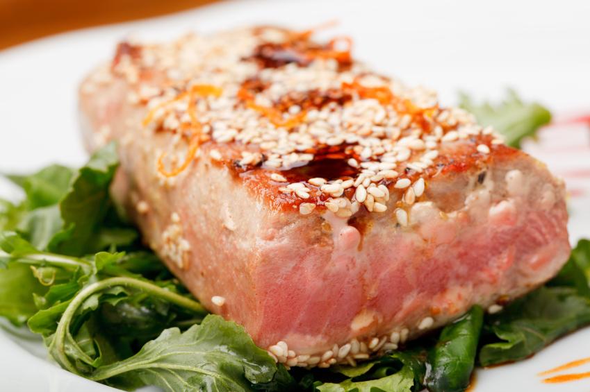 sesame-crusted tuna