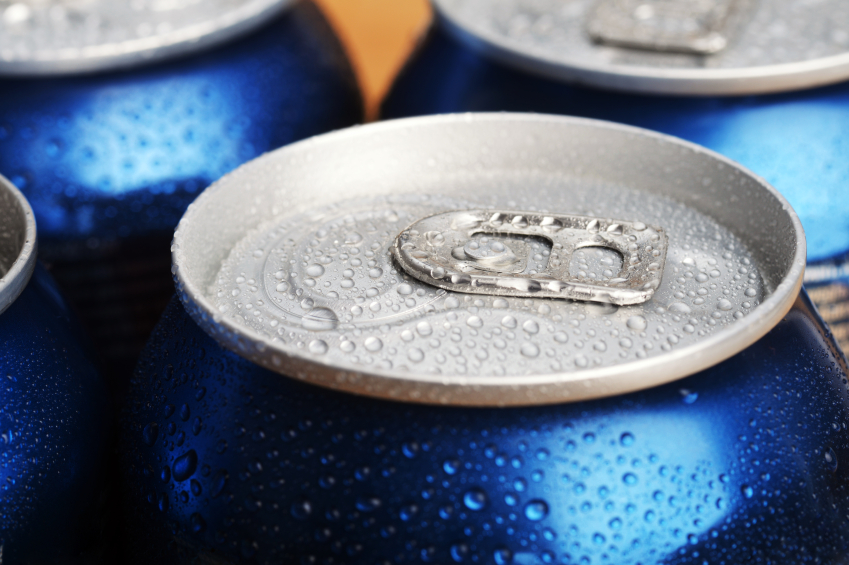 aluminum can, beer