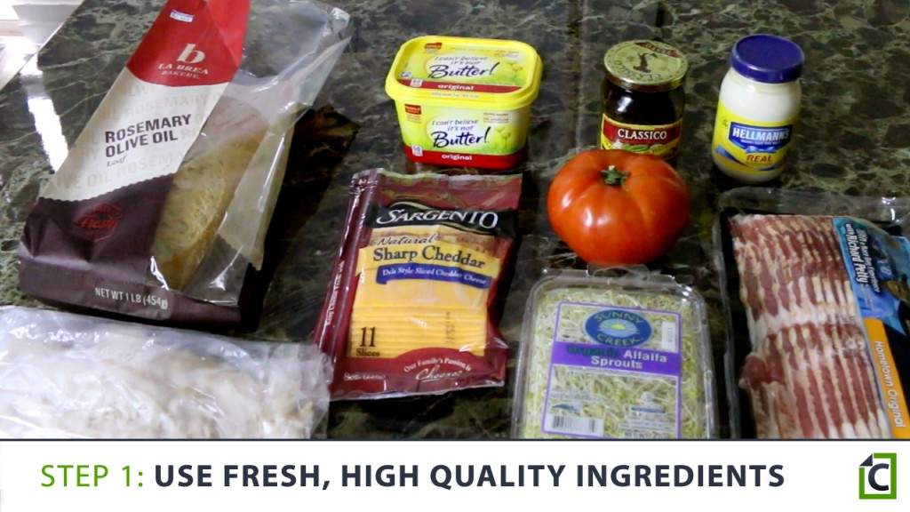 1 use fresh high quality ingredients