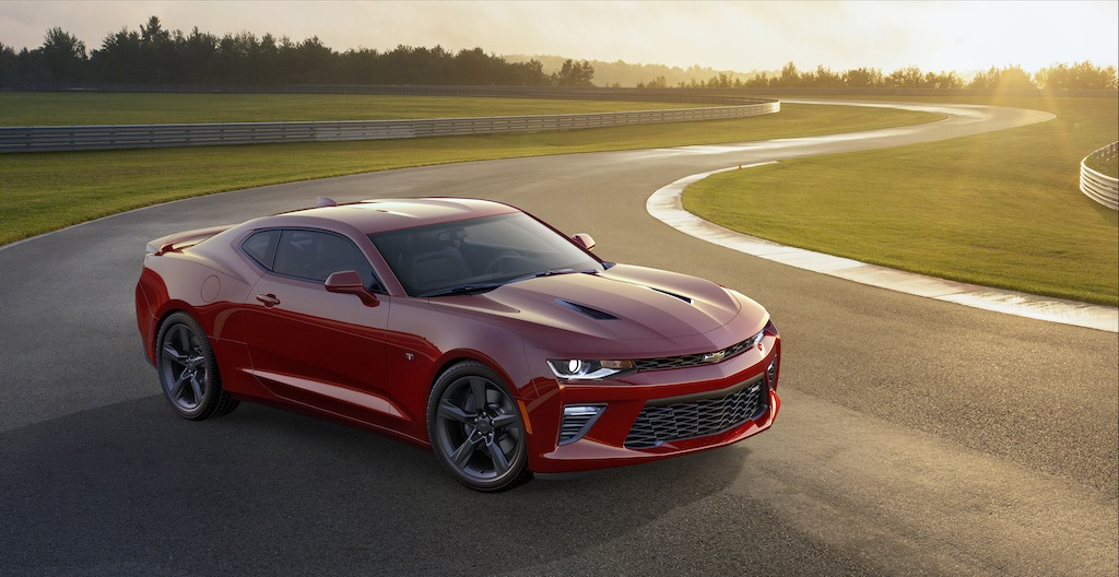 A red 2016 Chevrolet Camaro SS