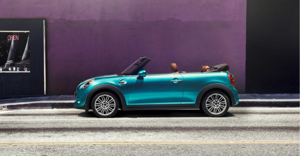 Blue MINI Convertible