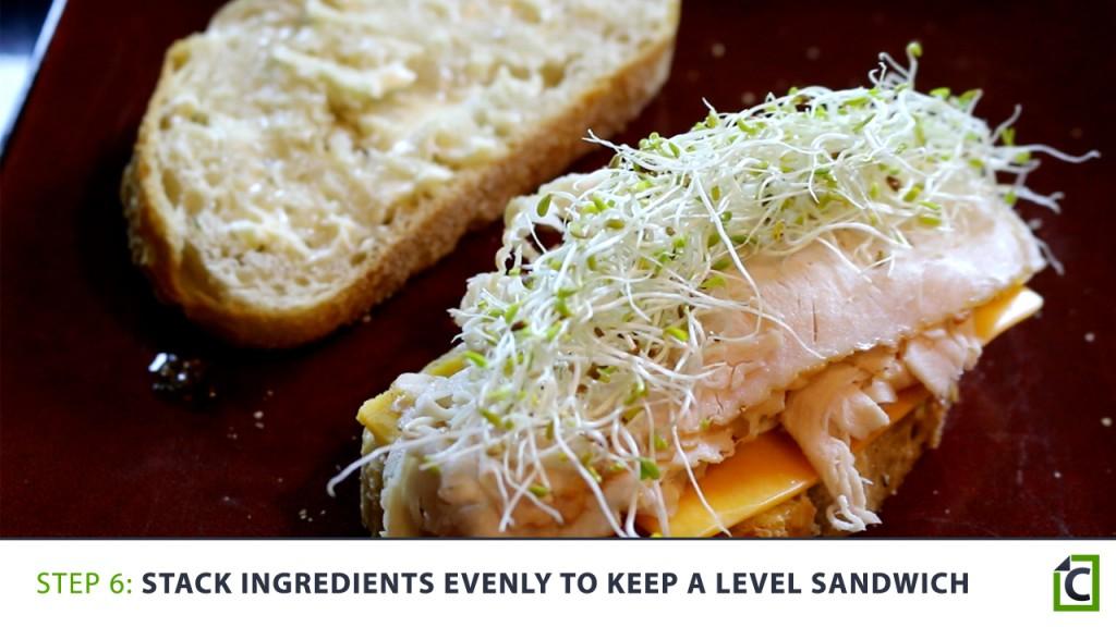6 stack ingredients evenly