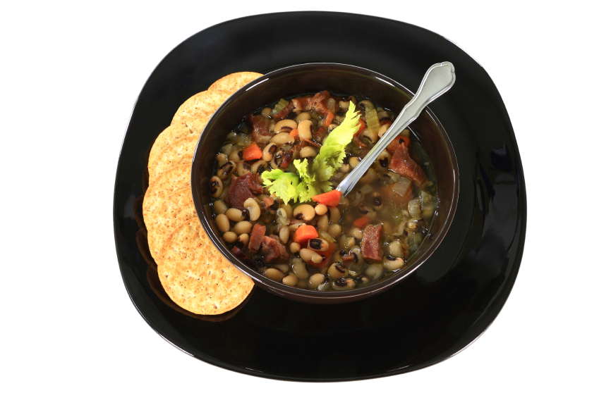ham and bean soup, black eyed peas