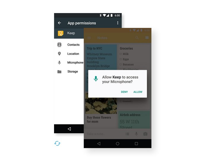 Android 6.0 Marshmallow app permissions