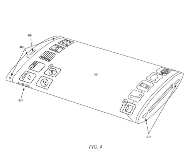 Apple patent iPhone with wraparound display