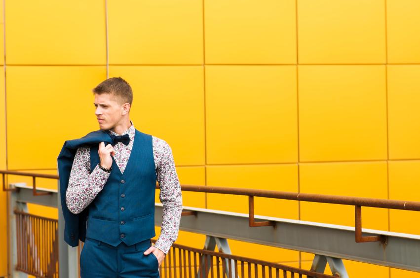 a stylish man wearing a suit